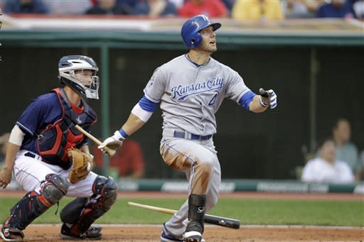 Smith gets first win as Royals beat Indians 8-2