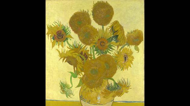 """""""Vase with Fifteen Sunflowers"""" by Vincent van Gogh, sold for $39.7 million in 1987."""
