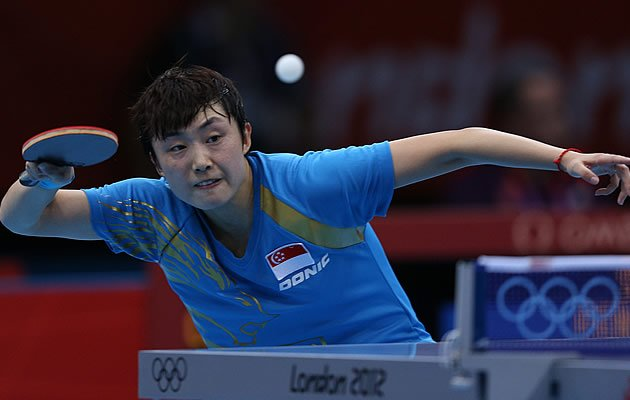 S'pore's Feng Tianwei is through to the next round after an easy victory (Getty)