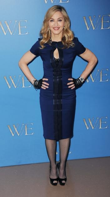 Madonna promotes the film 'W.E.' during a photocall at The London Studios on January 11, 2012 in London -- Getty Images