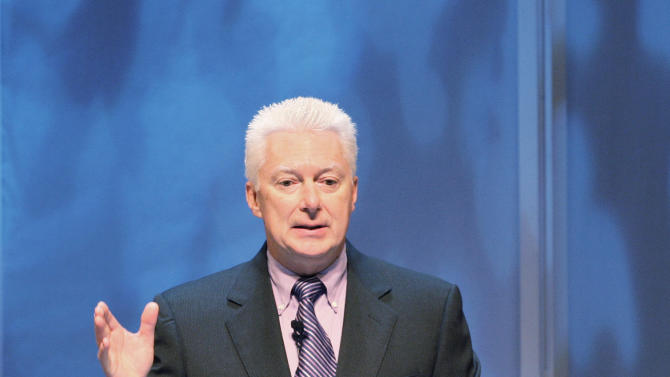 FILE - Procter & Gamble chairman of the board A.G. Lafley speaks at P&G's annual shareholders meeting, in this Oct. 13, 2009 file photo taken in Cincinnati. The Cincinnati company said late Thursday May 23, 2013 that former CEO A.G. Lafley, a 33-year industry veteran, is returning its top post. (AP Photo/Al Behrman, File)