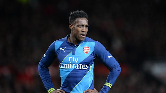 Arsenal's striker Danny Welbeck looks on during the FA Cup quarter-final football match between Manchester United and Arsenal at Old Trafford on March 9, 2015