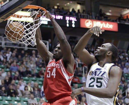 Hayward scores 15 as Jazz beat Rockets 102-91