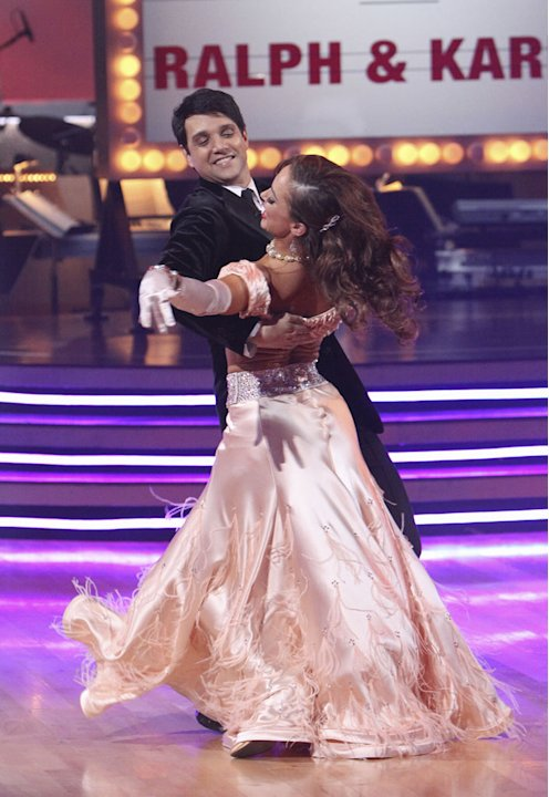 Ralph Macchio and Karina Smirnoff perform the Foxtrot on &quot;Dancing with the Stars.&quot; 