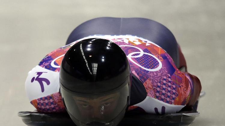 Russia's Tretiakov wins gold in Olympic skeleton