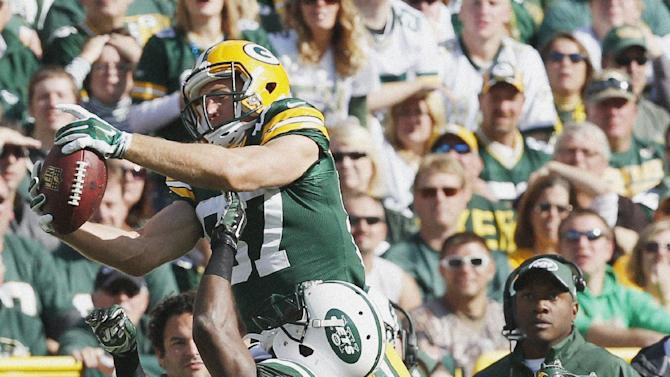 Nelson has career day, Packers beat Jets 31-24