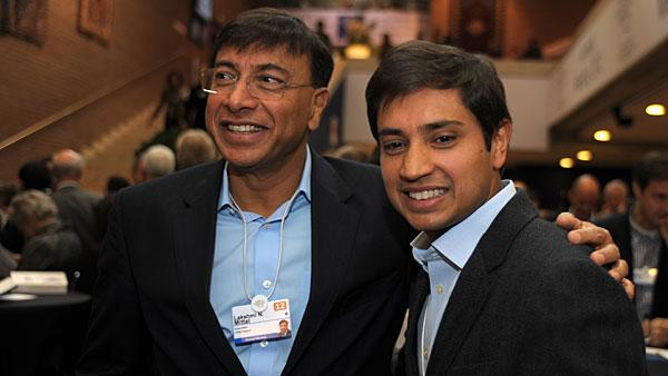 """7. Lakshmi Mittal, 61 Company: Arcelor-Mittal  Net worth: $19.1 billion  2011 compensation: $1,739,000   Lakshmi Mittal is the founder and CEO of ArcelorMittal — the world's largest steelmaker.   The 61-year old steel tycoon founded the company in 1976 as LNM Group, parting ways from his India-based family steel business, which he helped run to venture out on his own. The firm went on to merge with Arcelor in 2006 to form ArcelorMittal.   Mittal is also chairman of the group and his stake in the company is valued at $13.2 billion, according to Wealth-X. His other large assets include homes in London, U.K. valued at about $500 million, while his yacht named """"Amevi"""" is worth $200 million. An avid soccer fan, Mittal also owns a 33 percent stake in English Premier League football club Queen's Park Rangers.   Other family members involved in ArcelorMittal include his son and heir apparent Aditya (pictured), who is the CFO, while daughter Vanisha is one of 10 board members. Vanisha's 2004 wedding to Amit Bhatia made headlines for its extravagance and is considered the third most expensive wedding in modern times, costing more than $55 million . The wedding took place at France's Versailles Palace and the senior Mittal reportedly paid for 1,000 guests to stay one week at five-star hotels in Paris.   Euro zone woes and falling steel demand have hit Mittal and his company hard. The steelmaker made headlines last October when it backed out of a deal with U.S. coal giant Peabody to buy a nearly 60 percent stake in Macarthur Coal for $5 billion. Mittal, in turn, has seen his wealth shrink from $28 billion in 2011 to 19.1 billion, according to Wealth-X.  Photo: Eric Piermont 