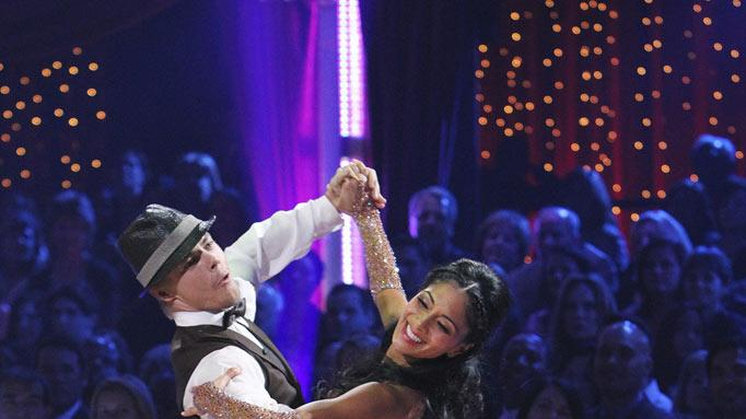 "Derek Hough and Nicole Scherzinger on ""Dancing with the Stars."""