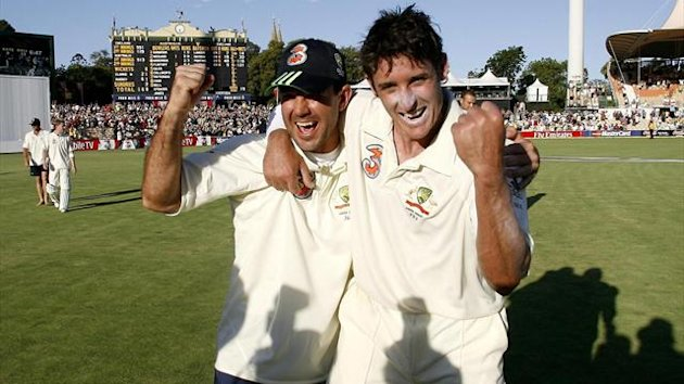 Ricky Ponting, left, and Mike Hussey, right. (PA Photos)