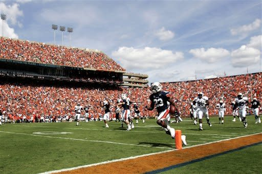 Parkey's OT kick lifts Auburn past ULM, 31-28