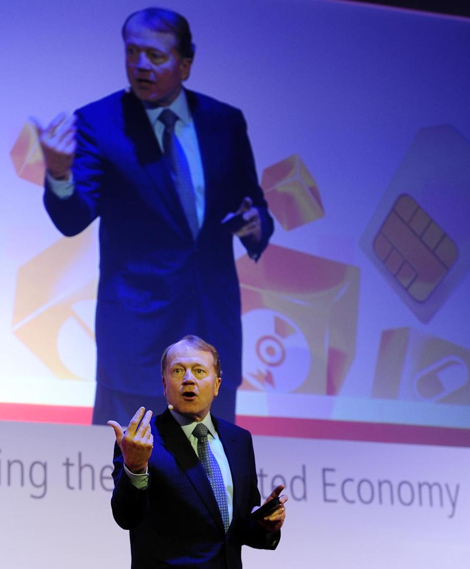 CEO of Cisco John Chambers attends a conference at the Mobile World Congress, the world's largest mobile phone trade show, in Barcelona, Spain, Tuesday, Feb. 28, 2012. (AP Photo/Manu Fernandez)