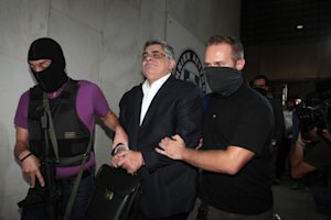 Leader of the extreme far-right Golden Dawn party Nikos…