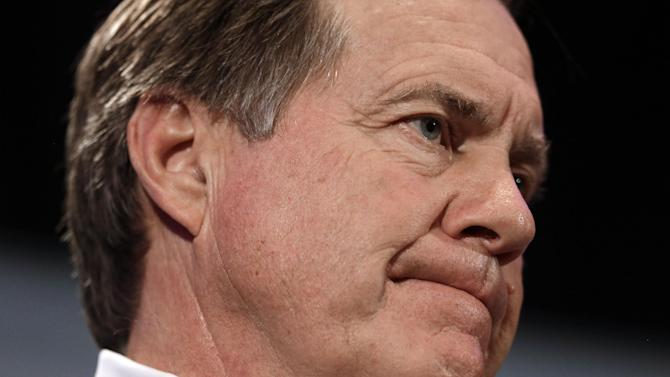 New England Patriots head coach Bill Belichick listens to a question during a news conference Monday, Jan. 26, 2015, in Chandler, Ariz. The Patriots play the Seattle Seahawks in NFL football Super Bowl XLIX Sunday, Feb. 1, in Phoenix