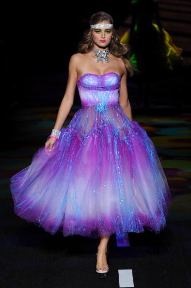 The finale dress aka the day-glo gown of our pre-teen fantasies.