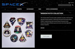 SpaceX Launches Sales of Falcon, Dragon Space Patches