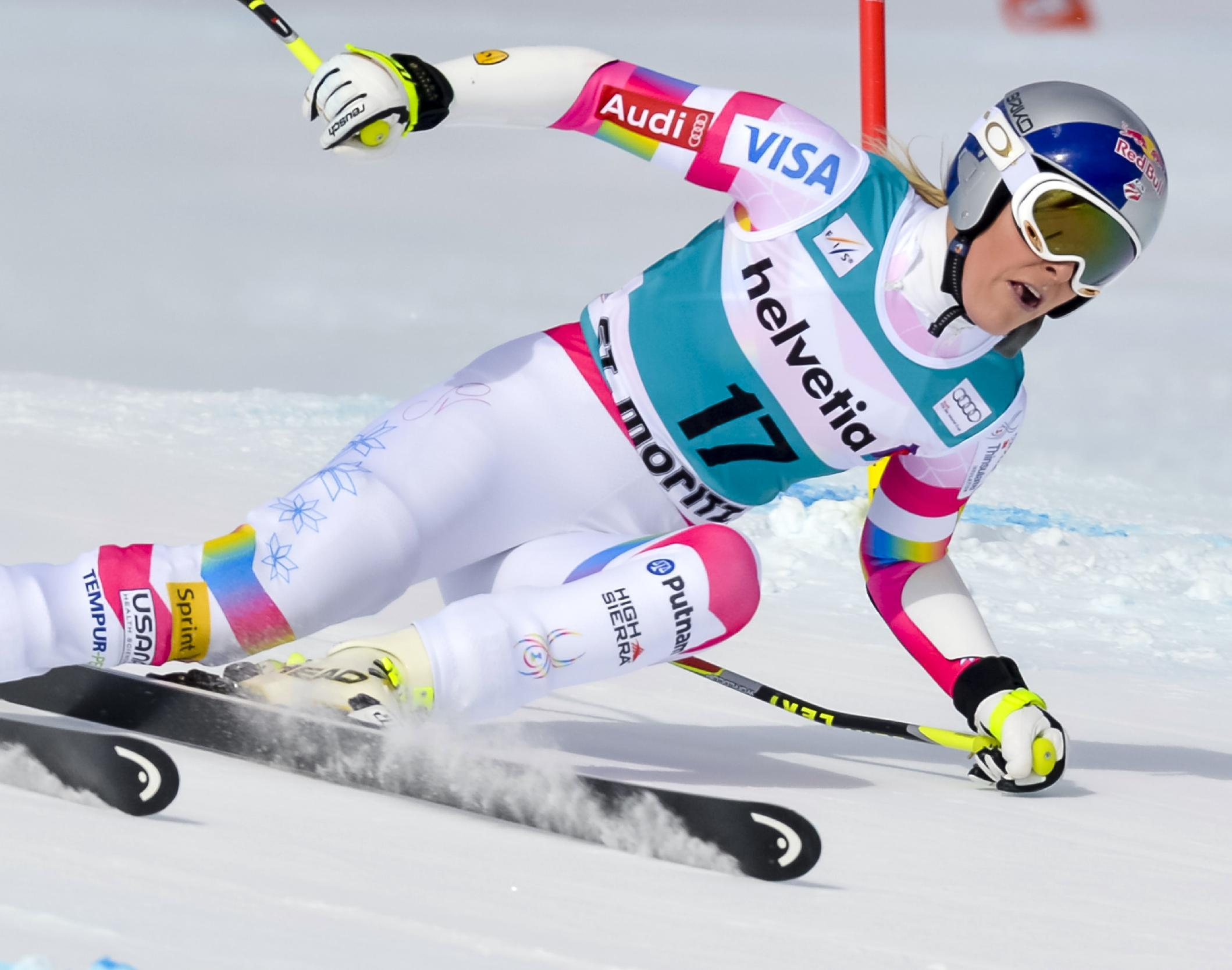 Vonn powers to St Moritz super-G win
