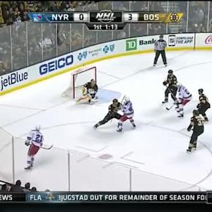 Tuukka Rask Save on Derek Stepan (18:47/1st)