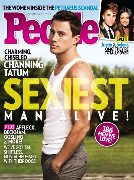 Channing Tatum on the cover People magazine's Sexiest Man Alive 2012 issue -- People