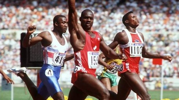 1988 Olympics Men's 100m final Ben Johnson