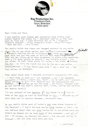gty john lennon letter 1 nt 130329 blog Letters From a Lost Marilyn Monroe, Angry John Lennon to Be Auctioned