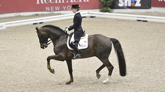 Germany's Helen Langehanenberg and her horse Damon Hill