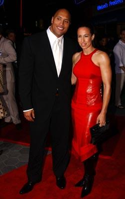 The Rock and wife at the LA premiere of Universal's The Rundown