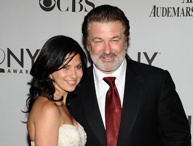 FILE - In this June 12, 2011 file photo, Alec Baldwin, right, and Hilaria Thomas arrive at the 65th annual Tony Awards in New York. Baldwin proposed to Thomas over the weekend. They began dating last year. Baldwin was married once before to actress Kim Basinger.(AP Photo/Charles Sykes, file)