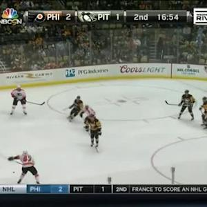 Marc-Andre Fleury Save on Andrew MacDonald (03:08/2nd)