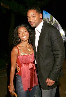 Jada Pinkett-Smith and Will Smith at the New York premiere of Dreamworks' Shark Tale