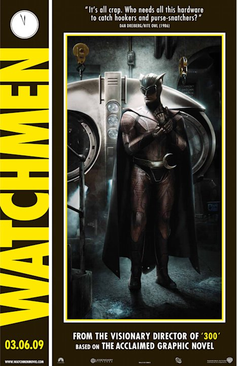 Watchmen Production Stills Poster Warner Bros. 2009 CLONE