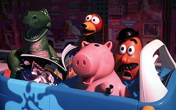 Rex, Slinky Dog, Hamm and Mr. Potato Head in Disney's Toy Story 2