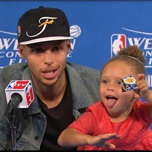 Stephen Curry's Daughter Steals the Show Again at NBA Postgame Interview