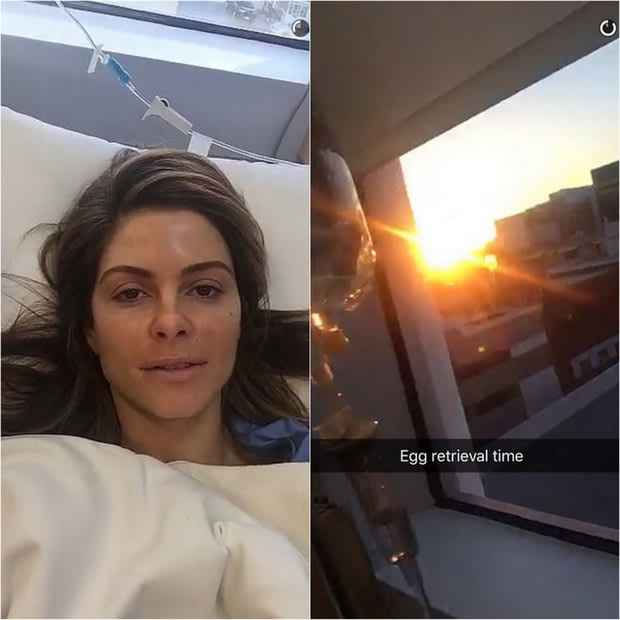 Maria Menounos Snapchats her IVF egg retrieval procedure