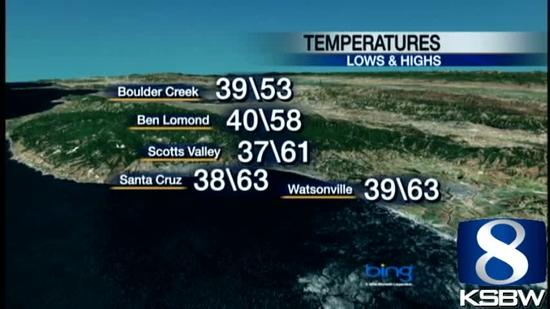 Watch your Tuesday night KSBW weather forecast 01.08.13
