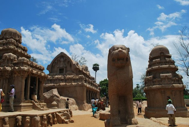 The five rathas at Mahabalipuram. Click for more photos.