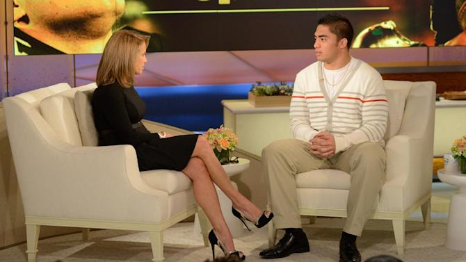 Manti Te'o tells Katie Couric he was confused by hoax