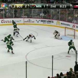 Niklas Svedberg Save on Ryan Suter (11:40/2nd)