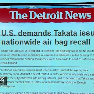 Headlines: Officials demand Takata air bag company to issue nationwide recall