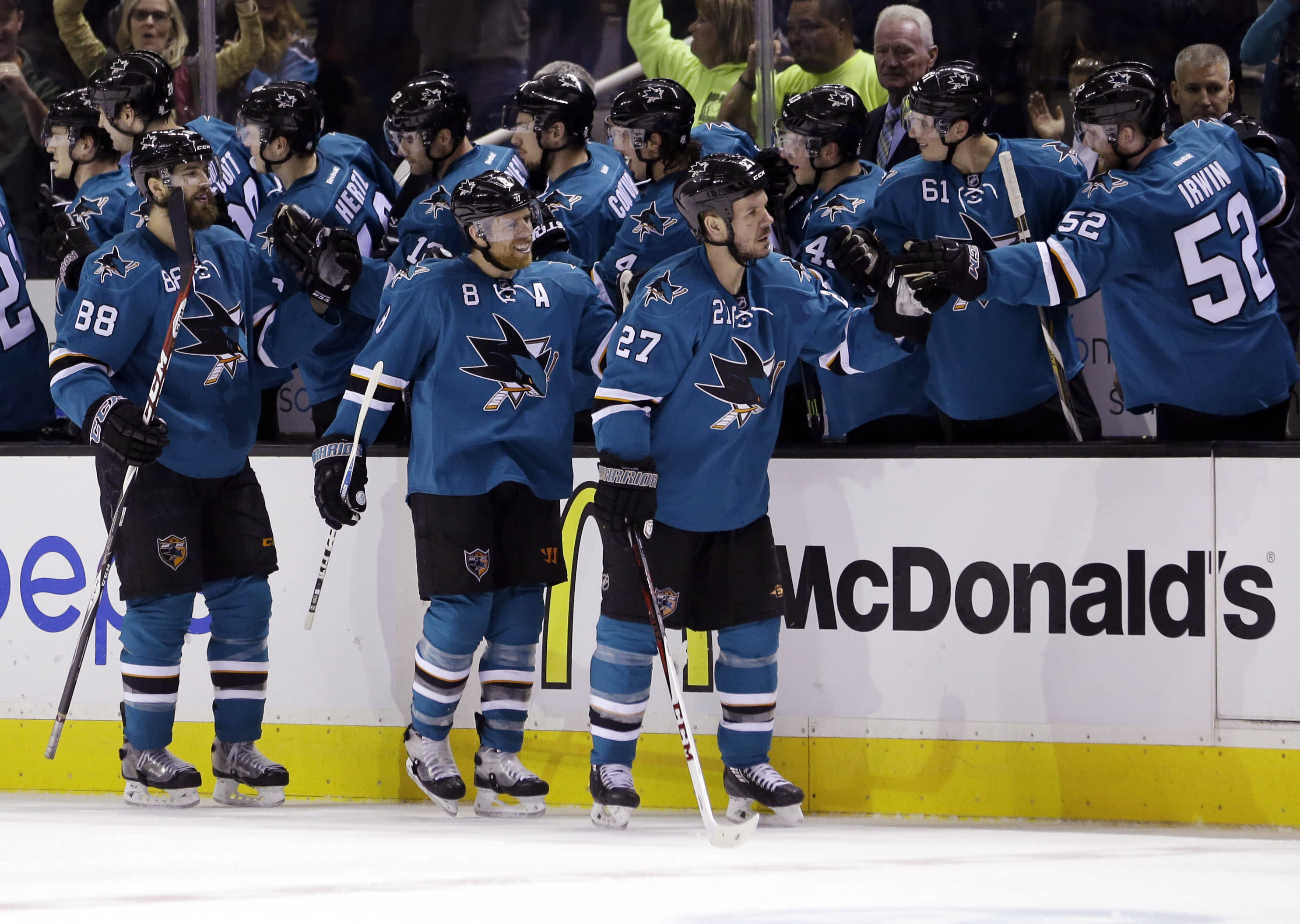Sharks beat Avalanche 5-1 to boost slim playoff hopes