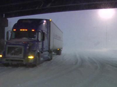 Raw: Near Whiteout Conditions on Conn. Roads