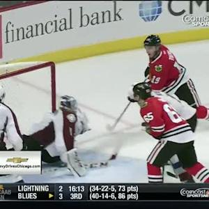 Toews scores off beautiful passing play