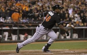 Marlins beat Giants 2-1, Koehler earns 1st win