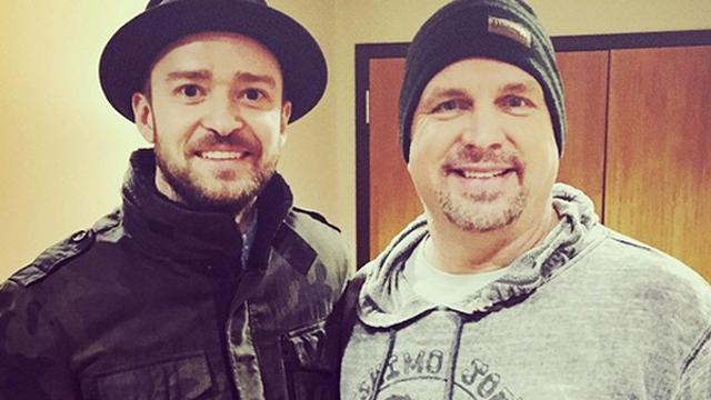 Garth Brooks Surprises Fans at Justin Timberlake Concert