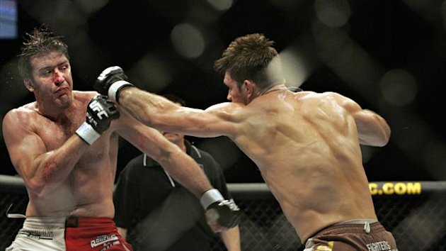 Stephen Bonnar in UFC action before his initial retirement