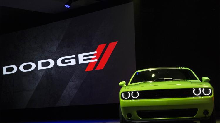 2015 Dodge Challenger is unveiled at media event at Jacob Javits Convention Center during New York International Auto Show in New York