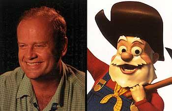 Kelsey Grammer as the voice of The Prospector in Disney's Toy Story 2
