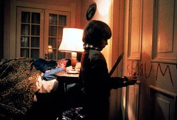 Shelley Duvall and Danny Lloyd in Warner Brothers' The Shining