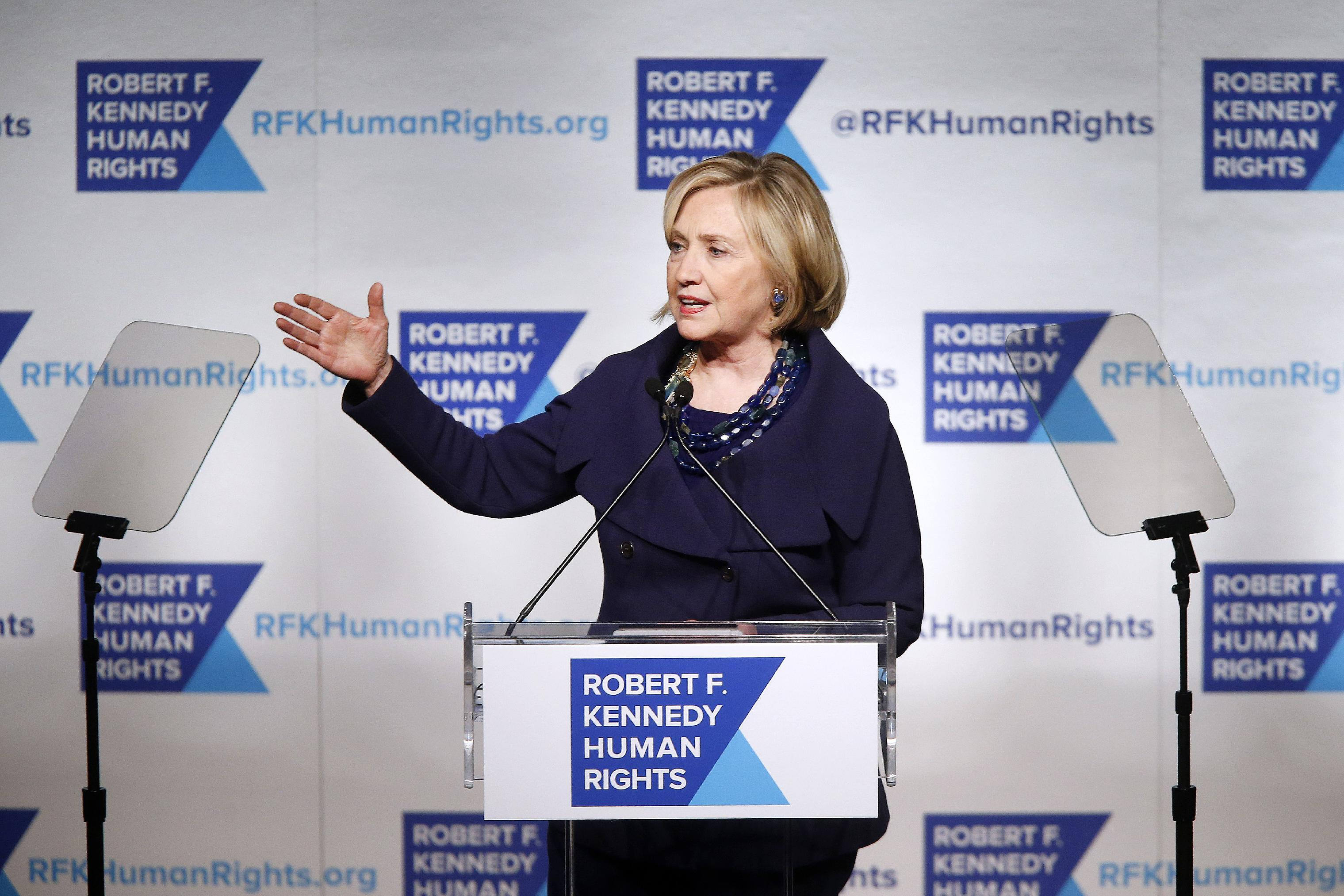 Clinton denounces torture, says black lives matter