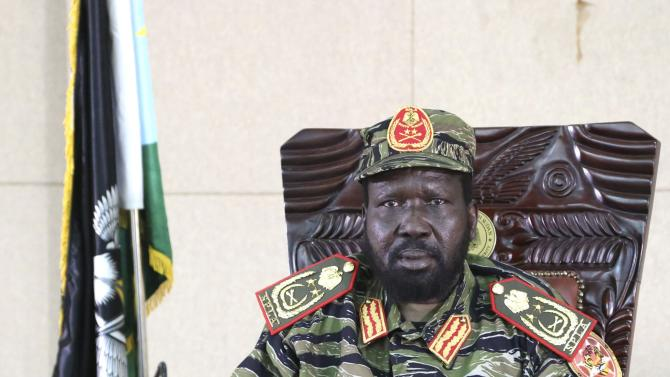 South Sudan's President Salva Kiir sits in his office in capital Juba