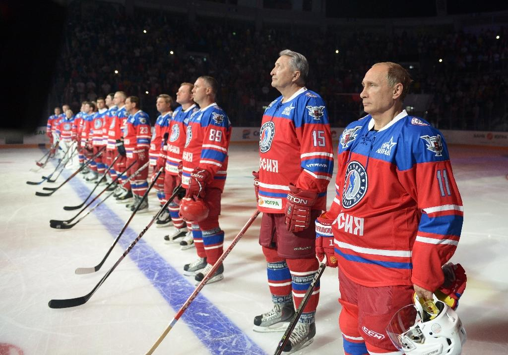 'Back in the game' Putin marks birthday with eye on Syria, hockey